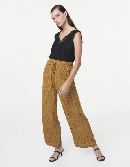 Mustard Patterned Pants