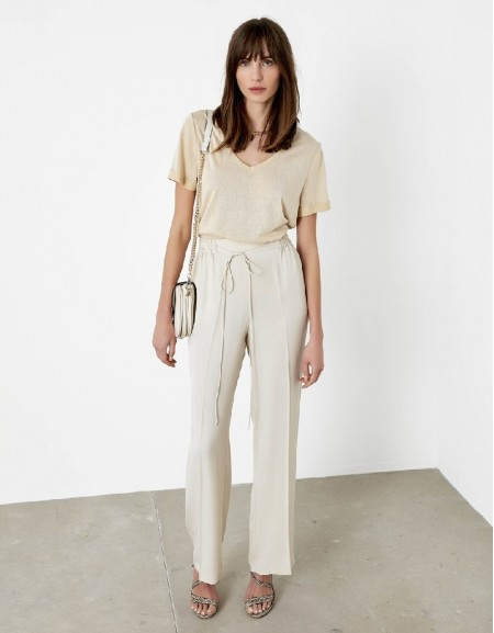 Stone Elastic waisted pants