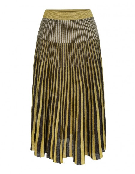 Yellow Linear knitted skirt