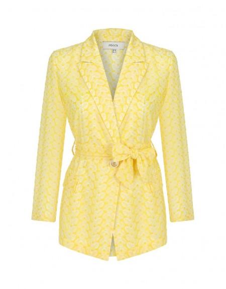 Yellow Leaf lace jacket