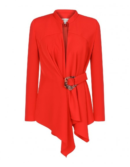 Red Layered wrap jacket