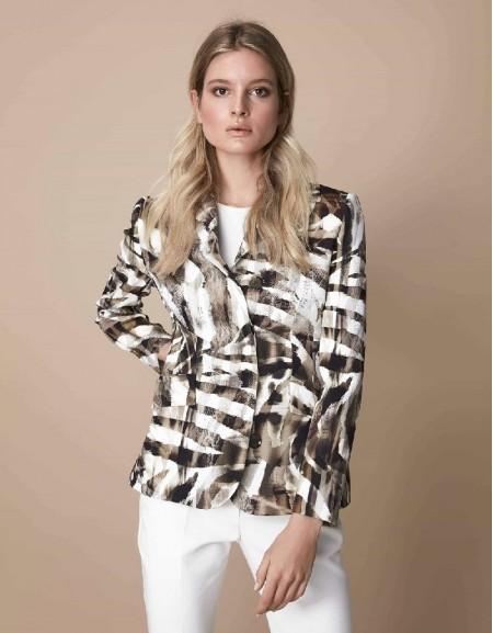 Khaki Hidden shoulder padded jacket
