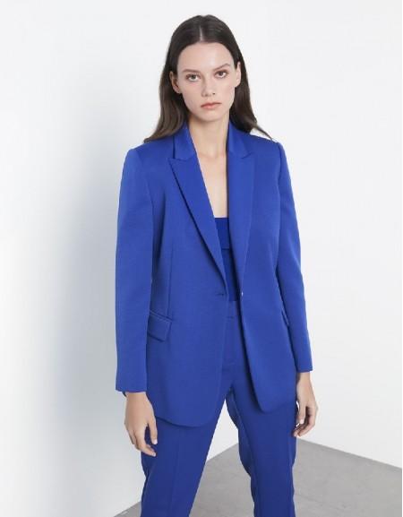 Blue Regular cut jacket
