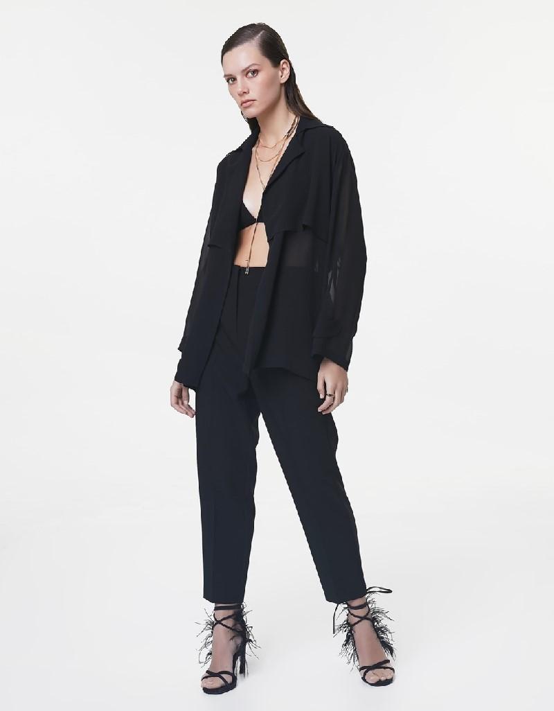 Black Lace striped jacket