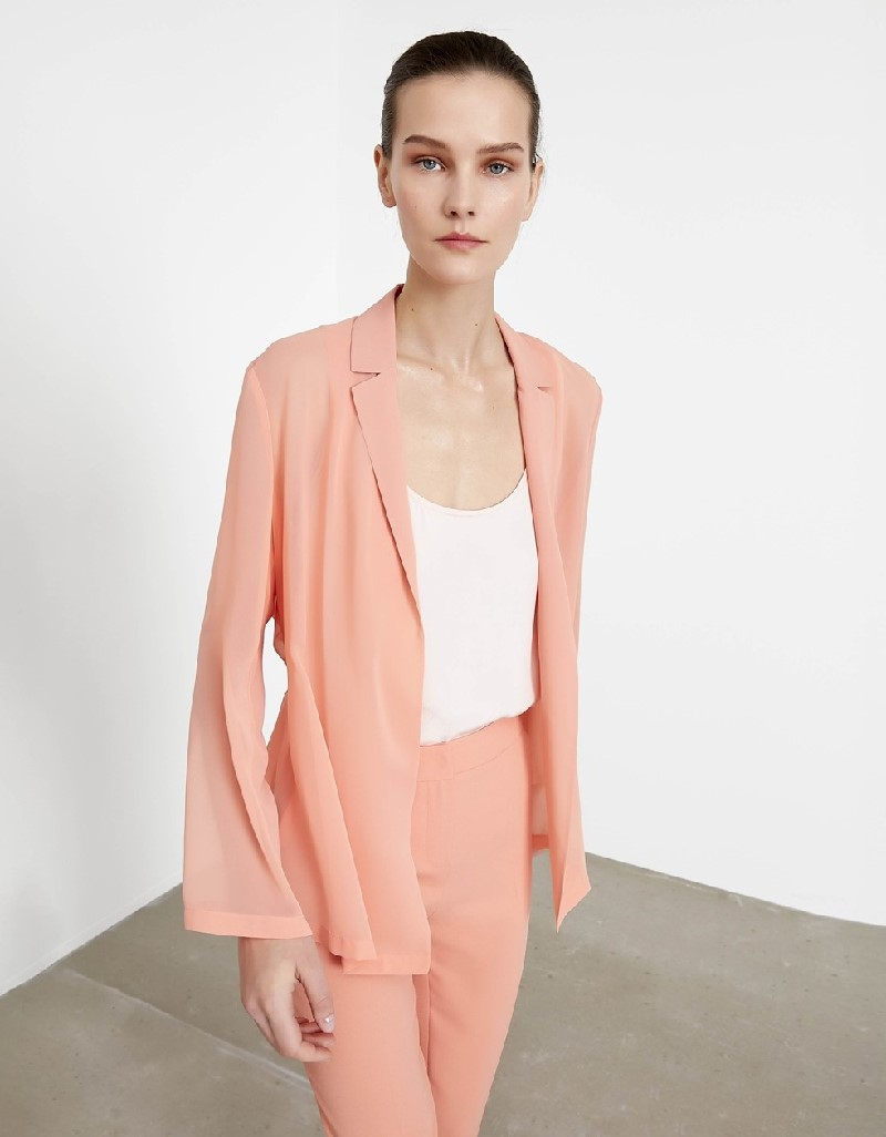 Salmon Lace striped jacket