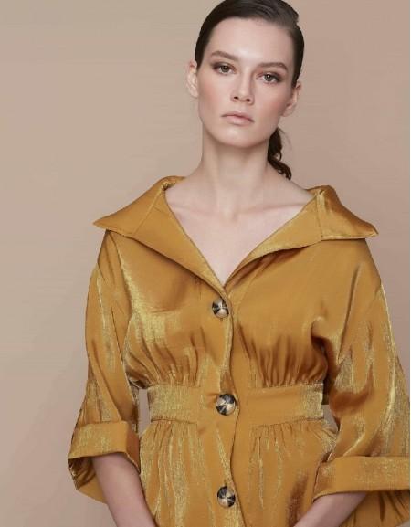 Saffron Blouse with waist emphasis