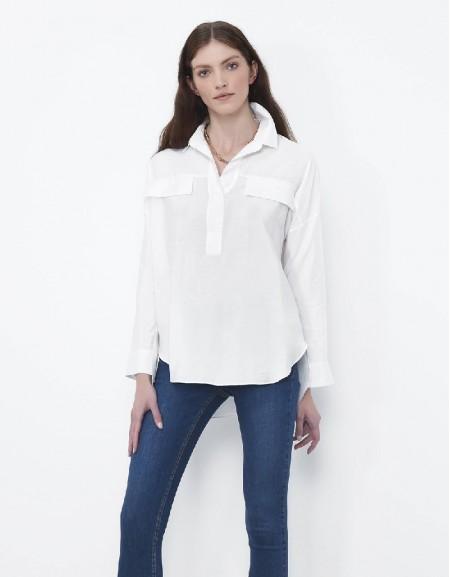 Off White Pocket detailed blouse