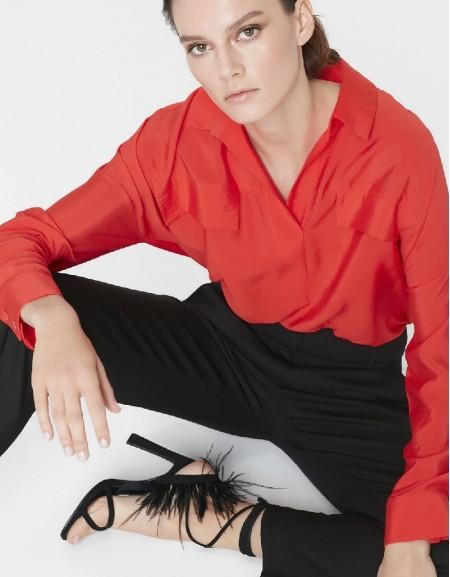 Vermilion Pocket detailed blouse