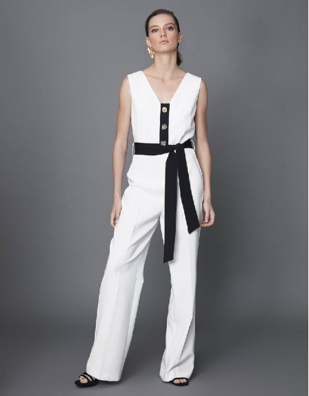 Off White Button accessory jumpsuit
