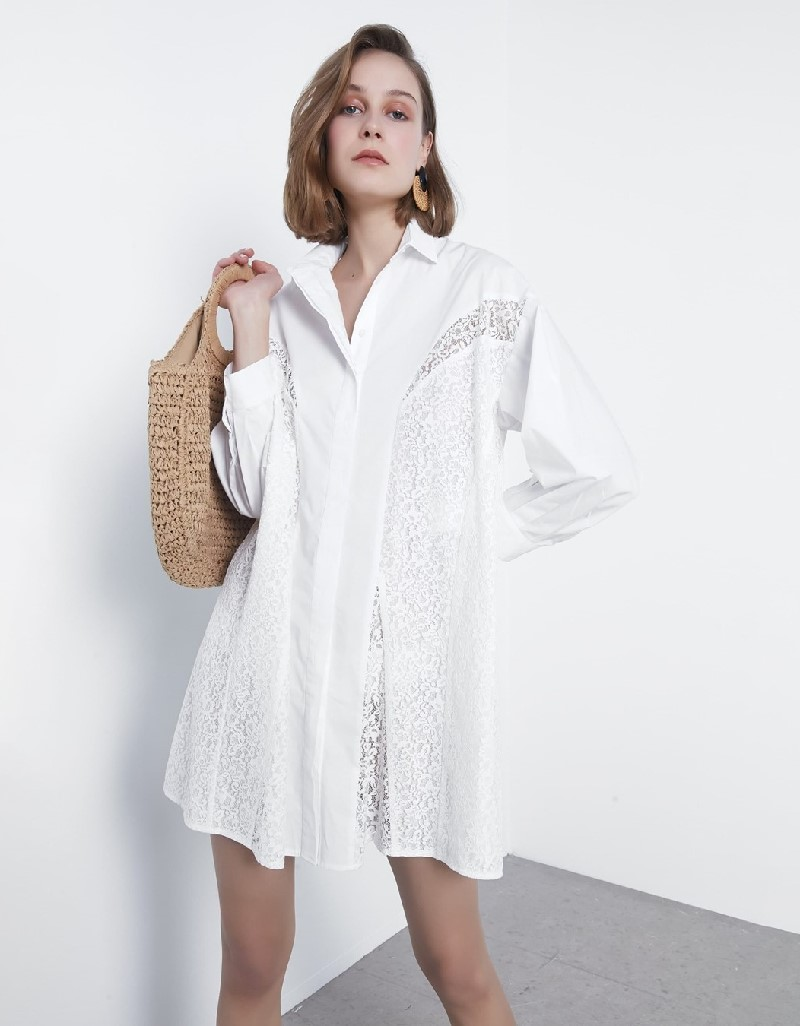 White Lace transition tunic