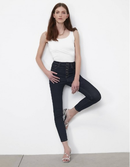 Indigo Buttoned jeans