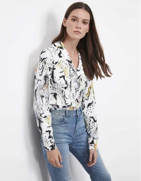 Ecru Horse patterned shirt