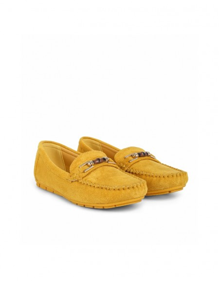 Yellow Buckle detailed loafer