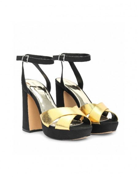 Gold HEELED SHOES