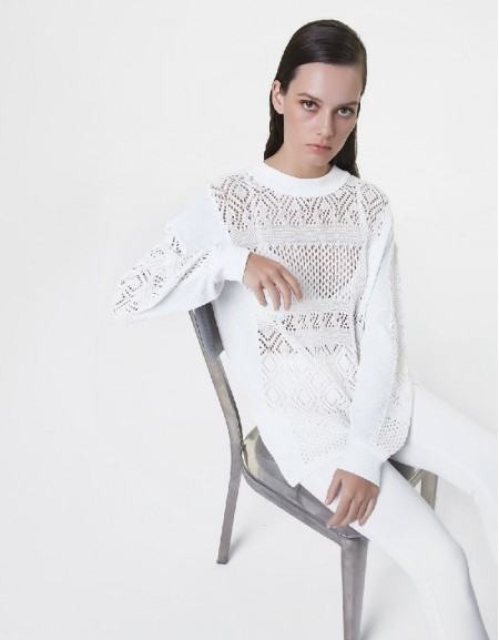 Off White Knitted ornament knitwear