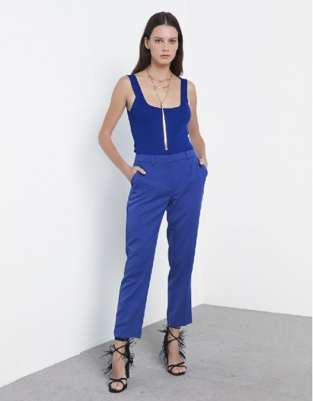 Blue Thick straps knitwear