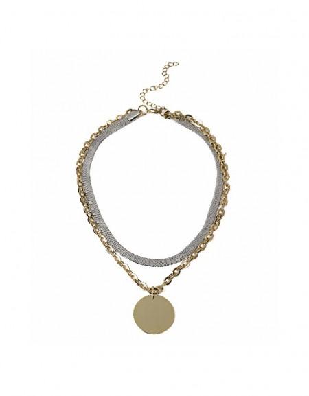 Gold Sequin tassel multiple necklace
