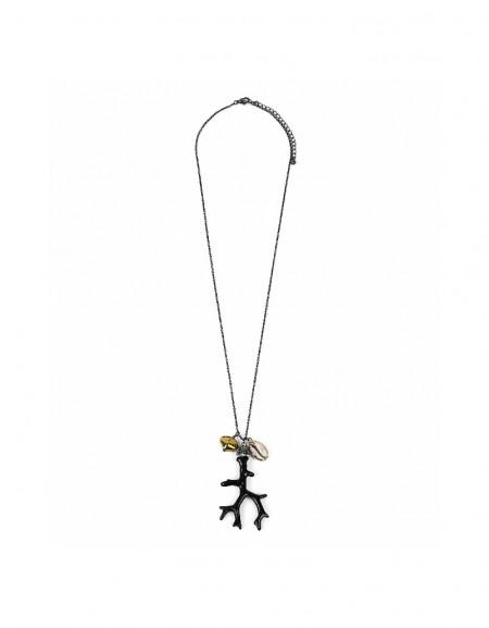 Black Sea figured necklace