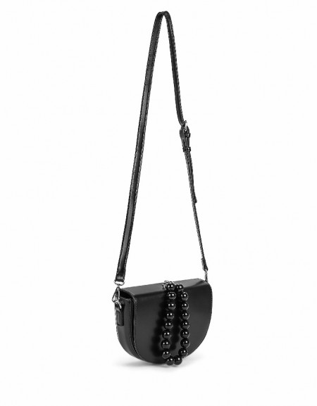 Black Bead line detailed bag