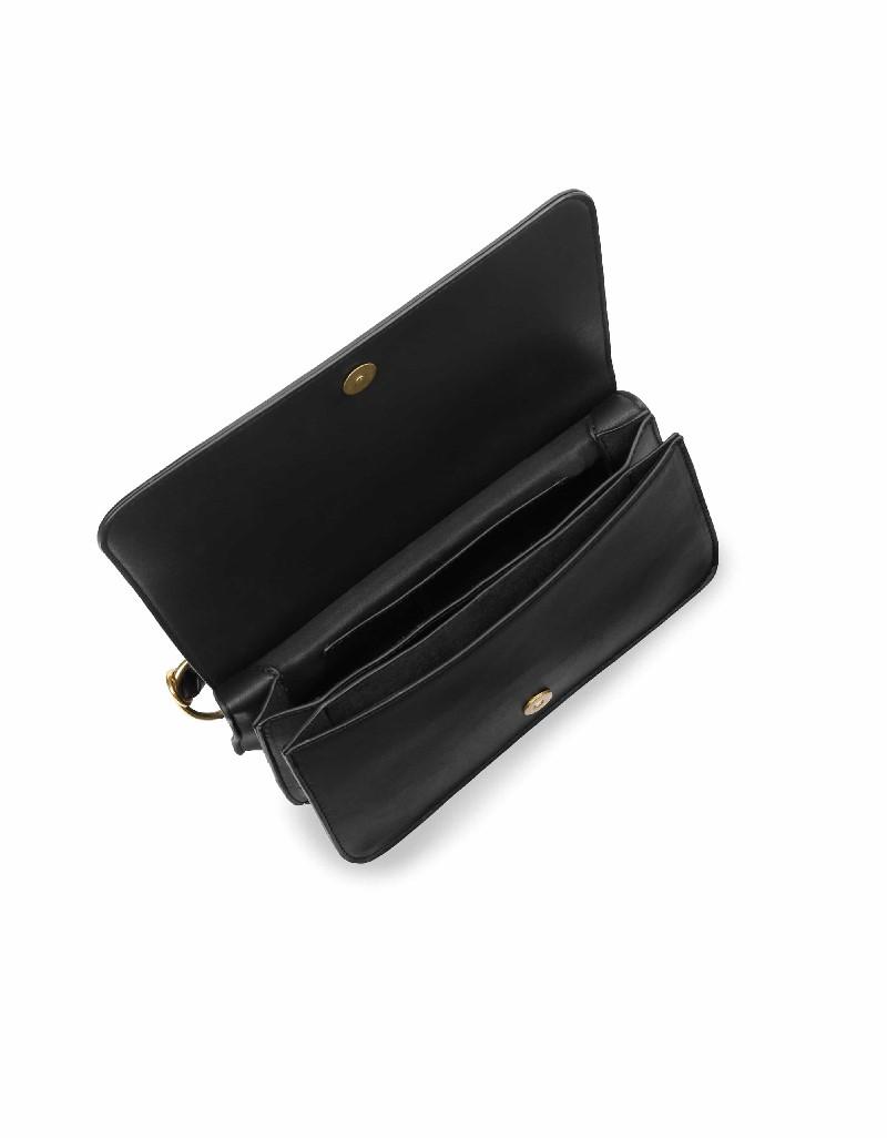 Black Handle detailed hand and shoulder bag