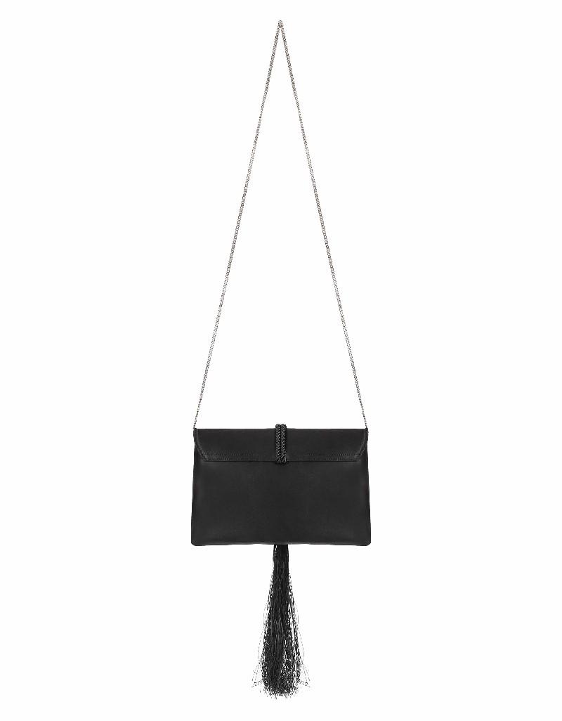 Black Rope tassel clutch