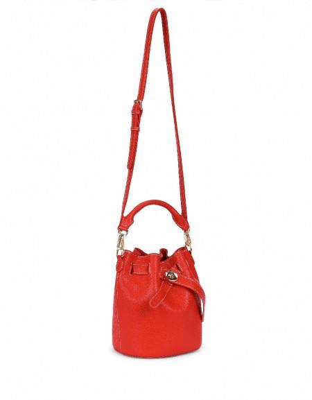 Red Closure detailed bag
