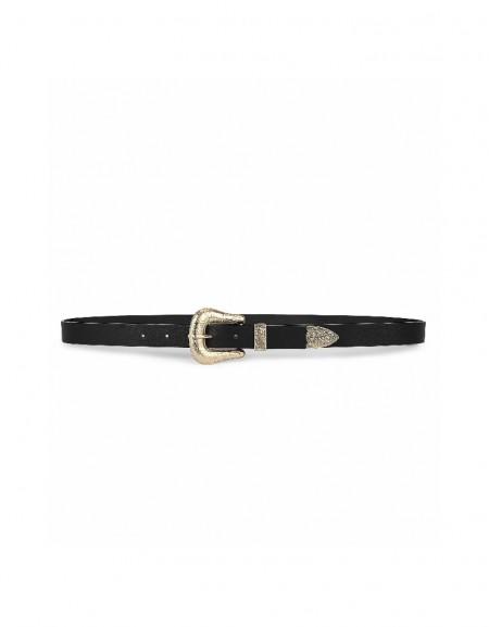 Black Authentic buckle belt