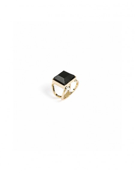 Gold Big stoned ring