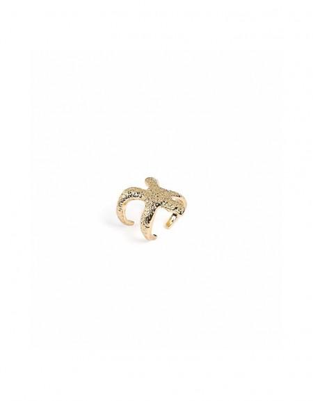 Gold Starfish form ring