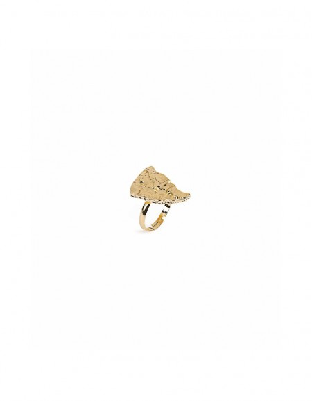 Gold Fluid form ring