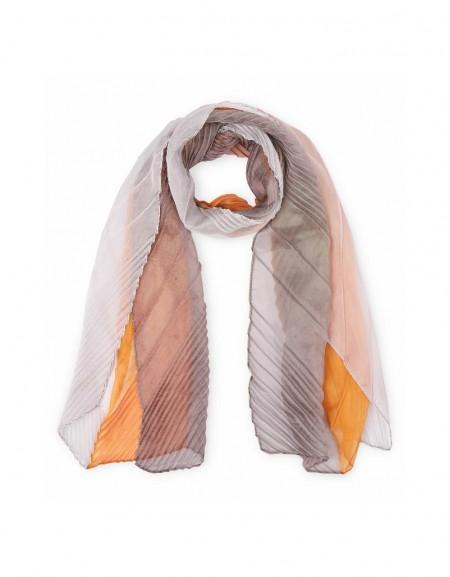 Orange Color transition scarf