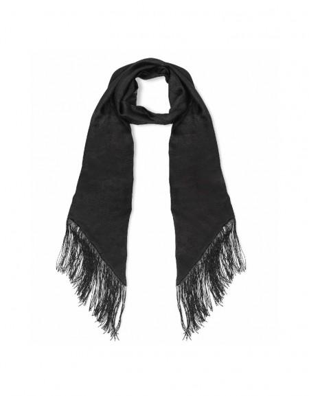 Black Rope tassel scarf