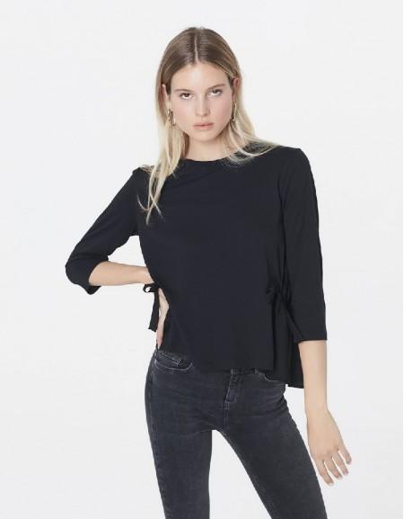 Black Blouse with adjustable waist