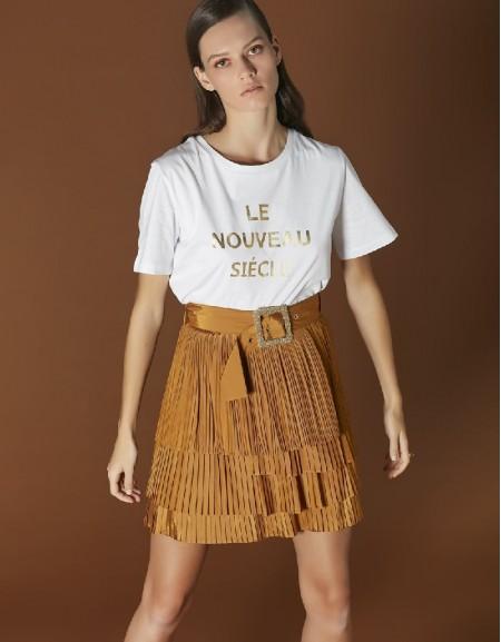 White Slogan printed t-shirt
