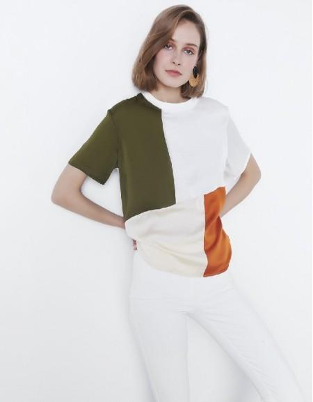 Ecru Color transition t-shirt