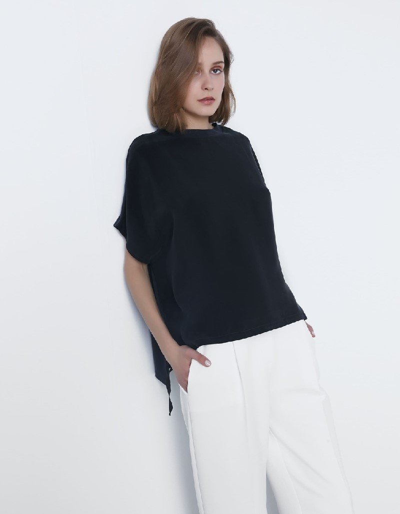 Anthracite Bat Wing Sleeve T-Shirt