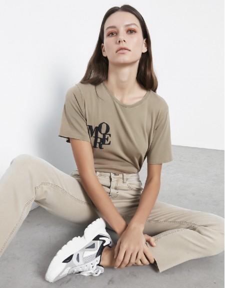 Terracota Slogan Embroidered T-Shirt