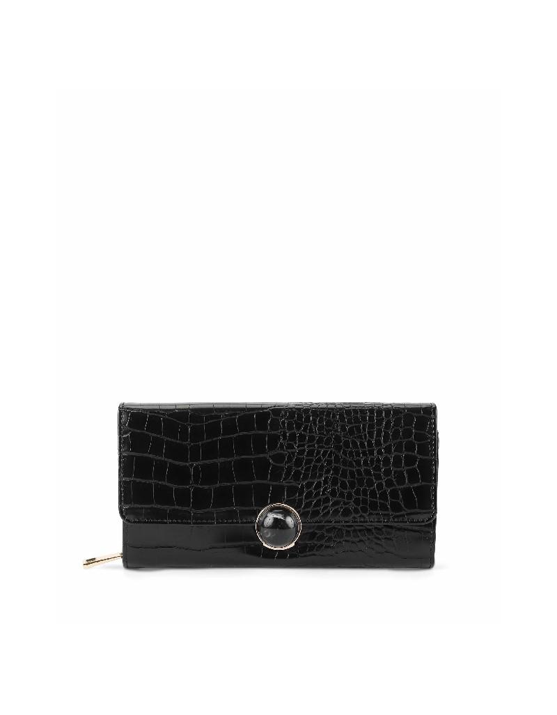 Black Closure detailed purse