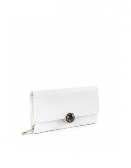 White Closure detailed purse