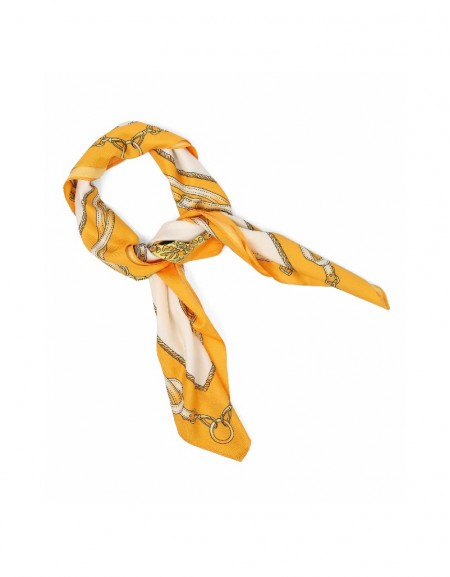Orange Patterned scarf