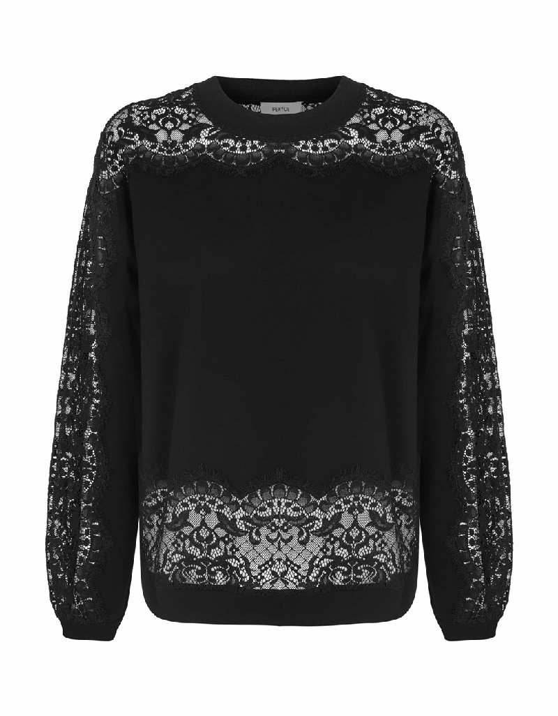 Black Lace mix sweatshirt