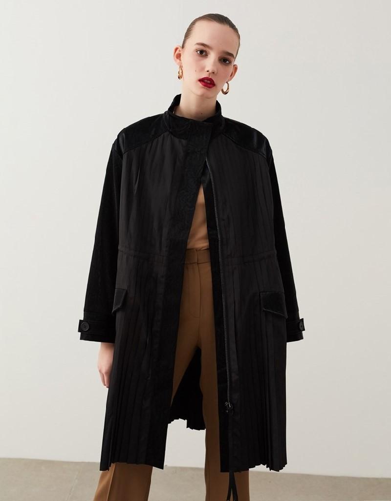 Black Fabric Mix Jacket
