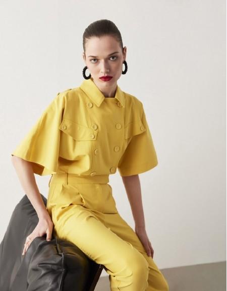 Yellow Lyocell Jumpsuit