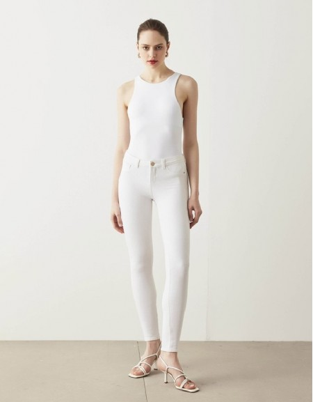 White 360 Skinny Fit Trousers