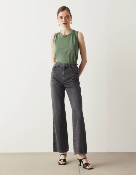 Anthracite Loose Flare Jeans