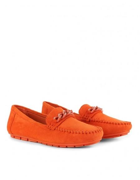 Orange Flat Shoes
