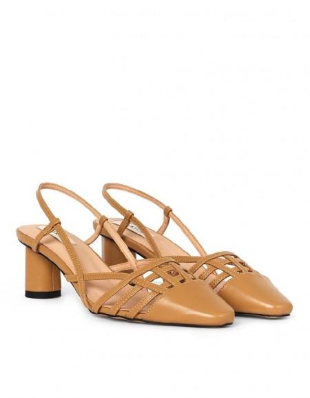 Beige Heeled Shoes