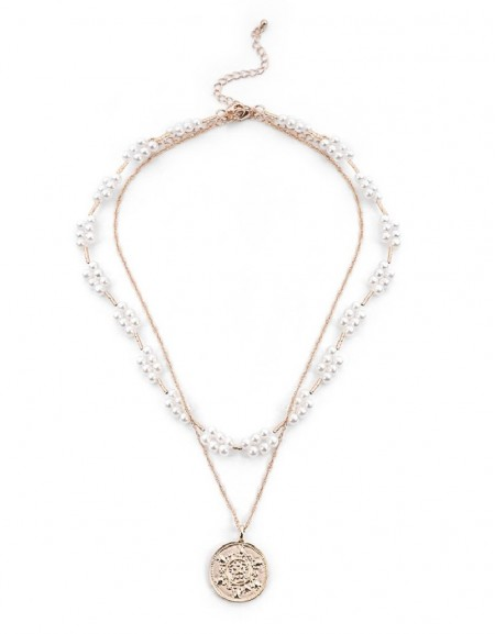 Pearl Pearl String Chain Necklace