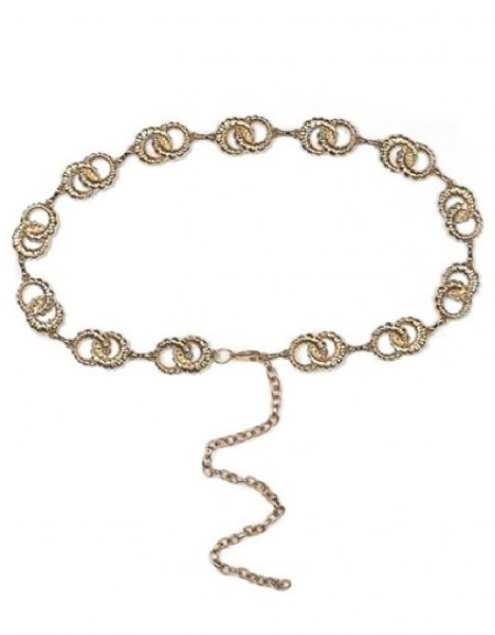 Gold Chain Belt With Ring Toggle