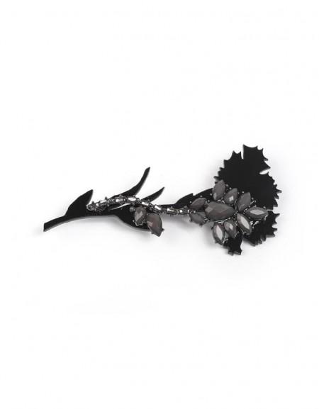 Nickel Flower Figure Brooch
